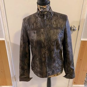 Faux leather Jacket brown size 4